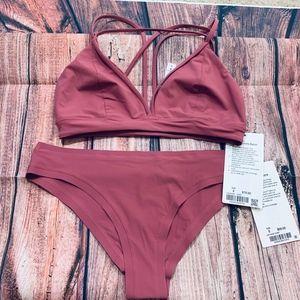 NWT Lululemon Pink Bikini Set Size 8